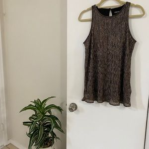 2/$25 Gold and silver shiny classy tank top